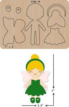 New Princess Wooden Die Cutting Dies Scrapbooking felt - Her Crochet Felt Doll Patterns, Felt Crafts Patterns, Felt Crafts Diy, Sewing Crafts, Sewing Projects, Felt Projects, Fairy Templates, Felt Templates, Fabric Dolls
