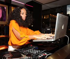 Solange Knowles celebrating Chime for Change first anniversary