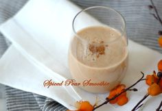 [ Recipe: Spiced Pear Smoothie ] Using pear,  almond milk, fresh ginger, ground cinnamon, and ice cubes. ~ from wholelivingdaily.wholeliving.com