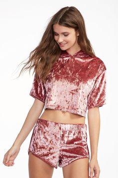 Urban Planet Crushed Velvet shorts