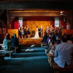 A wedding ceremony in the Parsonage Barn