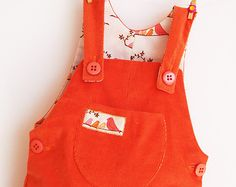 LITTLE BIRDS Romper pattern Pdf sewing Overall by PUPERITA on Etsy