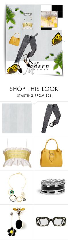 """""""Modern Woman"""" by lustydame ❤ liked on Polyvore featuring Ralph Lauren, Lisa Marie Fernandez, Burberry, Marni, GUESS, Gucci, Ready2hangart and modern"""