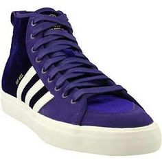 brand new b6cea 696ad Buy adidas Matchcourt High RX Na-Kel (Purple White Gold Metallic) Men s  Skate Shoes