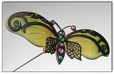 Art nouveau butterfly hatpin.