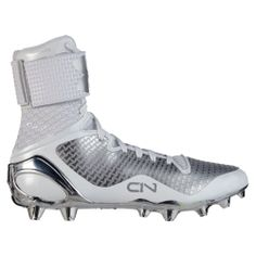 ce3af2fc1911 Under Armour Boy's C1N MC Football Cleats - White All White Football Cleats,  Cam Newton