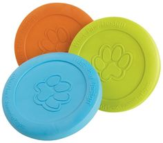 Introducing Zisc A fresh new idea in the world of flying discs...the Zisc is designed with all the benefits to keep your dog happy. Engineered from our incredibly soft, yet durable Zogoflex material, the Zisc flies through the air with speed and accuracy. Its pliable material allows your dog to pick it off the ground with ease and will not hurt or damage their soft mouth. In your backyard, at the park or on the water it floats the Zisc is the must have interactive toy of the season