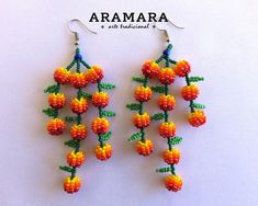 Your place to buy and sell all things handmade Seed Bead Jewelry, Beaded Jewelry, Etsy Earrings, Beaded Earrings, Bead Crafts, Jewelry Crafts, Bead Loom Designs, Native American Earrings, Mexican Jewelry