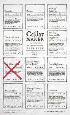 18 inspiring menu designs via Creative Bloq Food Menu Design, Restaurant Menu Design, Restaurant Branding, Restaurant Ideas, Book Tasting, Tasting Menu, Coffee Tasting, Tasting Room, Brewery Design