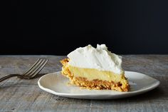 The crust is saltine crackers you mash with your hands; its tart custard belly is only three ingredients (sweetened condensed milk, egg yolk...