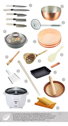 Japanese cuisine for beginners. Basic utensils.
