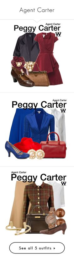 """Agent Carter"" by lissy-g ❤ liked on Polyvore featuring Adrianna Papell, Valentino, Oscar de la Renta, Emili, Gucci, A2 by Aerosoles, television, wearwhatyouwatch, Ted Baker and Kenzo"
