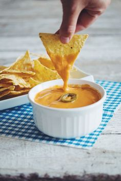 #vegan nacho cheese #quesocheese #dairyfree | RECIPE on hotforfoodblog.com