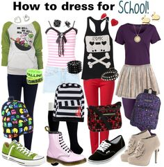 """""""How to dress for school XD"""" by alltimeinsane-slytherinmybedplzz ❤ liked on Polyvore"""