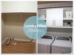 It's A Grandville Life : Laundry Closet Makeover Laundry Closet Makeover, Laundry Room, Diy Projects, Lifestyle Blog, Cabinet, Storage, Room Makeovers, Furniture, Room Ideas