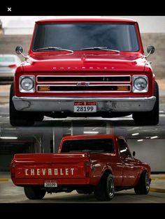Blacked-out and slammed Chevrolet C10  www CustomTruckPartsInc com