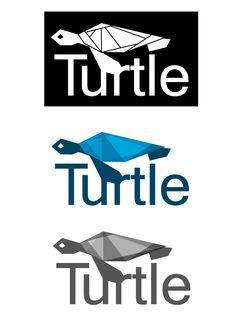 Turtle logo design by Alkis Zevgaridis, via Behance
