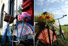 May is National Bike Month - 5 Awesome #Crochet Items for Bicyclists - crochet bicycle dress guards