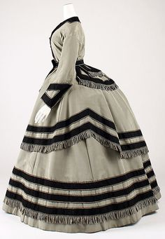 Wedding Ensemble  Date: 1866–69 Culture: American Medium: (a–c) silk (d, e) silk, linen, leather