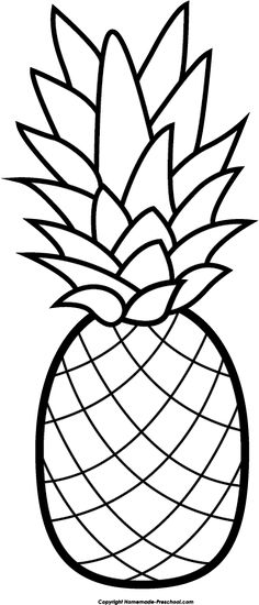 PineappleandFruitstoColor picture pineapples Clipart