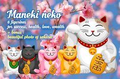 Maneki Neko set by Vector beauty on Creative Market