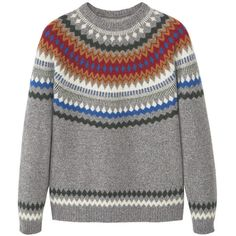 MANGO MAN Fair Isle Wool Sweater (£30) ❤ liked on Polyvore featuring men's fashion, men's clothing, men's sweaters, mens cable knit sweater, mens wool sweaters, mens wool cable knit sweater, mens cable sweater and mens woolen sweaters