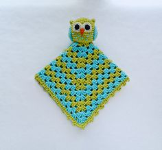 Ravelry: Owl Security Blanket pattern by Carolina Guzman.