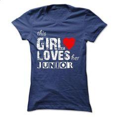 THIS GIRL LOVES HER J.U.N.I.O.R. 2015 DESIGN - printed t shirts #shirts for tv fanatics #white tee