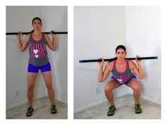 10 exercises to perform with the weighted bar (eg bar squat)