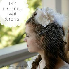 Create / Enjoy: My birdcage veil!! A tutorial http://www.create-enjoy.com/2011/08/my-birdcage-veil-tutorial.html#.VMhIrFpH2u4