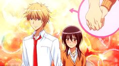"This is from the anime ""Kaichou wa Maid-sama!"" The couple in the gif is Takumi Usui and Misaki Ayuzawa."