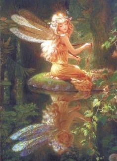 Art Aquarelle, Photocollage, Nature Aesthetic, Fairytale Art, Forest Fairy, Fairy Art, Renaissance Art, Pretty Art, Pretty Pictures