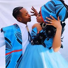 African Shweshwe Lovely Zulu Traditional Dresses&Shweshwe Attires In 2020 Your Wedding Theme Whether Zulu, Casual Wedding, Wedding Suits, Surprise Baby, Wedding Rituals, African Traditional Dresses, Wedding Music, Trends, African Wear