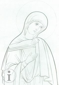 Religious Icons, Religious Art, Art Sketches, Art Drawings, Church Altar Decorations, Blessed Mother Mary, Mary And Jesus, Byzantine Icons, Fortune Cards