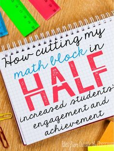 I kind of like this idea. Thinking of how to apply it in upper grades. - A look at how splitting my math block in half increased my students' engagement and helped me differentiate to meet their needs. Math Teacher, Math Classroom, Teaching Math, Classroom Ideas, Teaching Ideas, Teacher Stuff, Future Classroom, Guided Maths, Teacher Tips