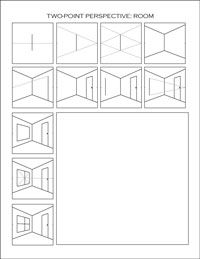 FREE two point perspective printable worksheets. Great for independent practice!