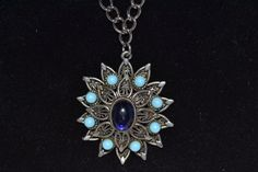 Vintage Necklace with Flower Pendant attached to by eventsmatters