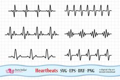 Heartbeat SVG by PolpoDesign on Business Brochure, Business Card Logo, Heartbeat Line, Graphic Illustration, Illustrations, Site Website, Script Type, Elements Of Art, Design Elements
