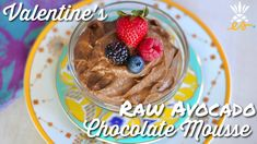 Valentine's Raw Vegan Chocolate Avocado Mousse / Pudding - Guilt-free Dessert! - YouTube