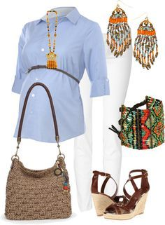 A fashion look from January 2013 featuring wedge heel sandals, hobo shoulder bags and indian bangles. Browse and shop related looks. Pregnancy Looks, Pregnancy Outfits, Mom Outfits, Pregnancy Style, Pregnancy Fashion, Maternity Wear, Maternity Fashion, Maternity Dresses, Maternity Style
