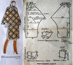 Sewing Coat, Sewing Clothes, Diy Clothes, Vintage Sewing Patterns, Clothing Patterns, Cape Designs, Patron Vintage, Japanese Sewing, Pattern Drafting