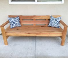 Modern Park Bench Do It Yourself Home Projects from Ana White Furniture, Home Projects, Retail Furniture, Diy Patio Furniture, Home Decor, Diy Bench Outdoor, Park Bench Diy, Porch Bench, Diy Outdoor Furniture