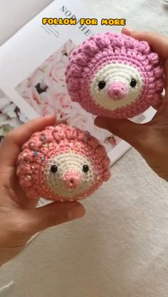 Diy Crochet Toys, Crochet Eyes, Kawaii Crochet, Crochet Gifts, Cute Crochet, Crochet Dolls, Crochet Projects, Knitting Patterns Free Dog, Crochet Applique Patterns Free