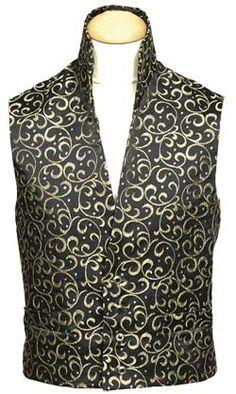 Regency officers/gentleman's vest - Men would wear this under their frocks? Its quite elaborate isn't it?