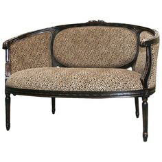 I pinned this Legion Furniture Cheetah Loveseat from the La Salle de Paris event at Joss and Main!  If I didn't already have chairs in my bedroom, I'd order this!!!