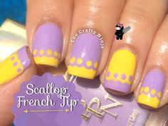 Scallop French Tip Nail Art by The Crafty Ninja