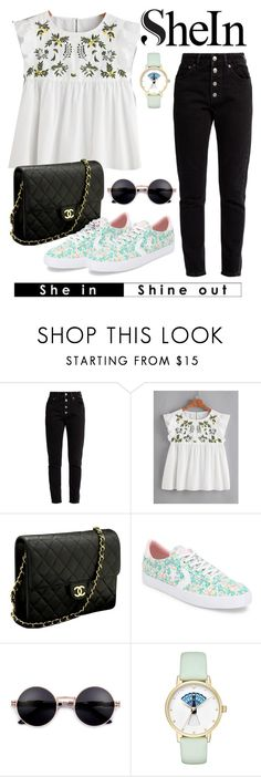 """floral themes"" by fira6102001 ❤ liked on Polyvore featuring Balenciaga, Chanel, Converse and Kate Spade"