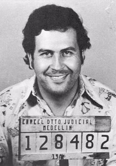 Pablo Escobar Mugshot Glossy Poster Picture Banner Colombian Medellin Narcos 64