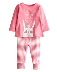 BABYROYALHAREG Baby Girls Royal Top and Trouser Set with a cute bunny