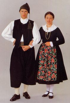 Island Krk, Croatia - The dress costume from the town of  Baška.